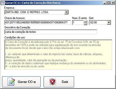 Gerando Cc E Carta De Correção Eletrônica
